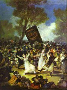 El entierro de la sardina, Francisco Goya